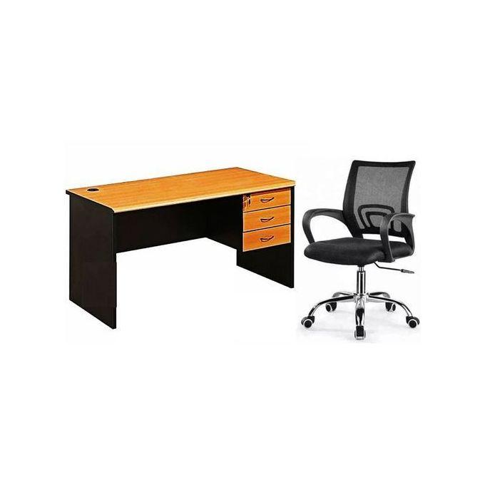 ensemble table de bureau 140cm fauteuil