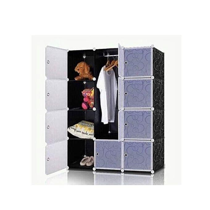 armoire penderie portable cube montable et demontable resine