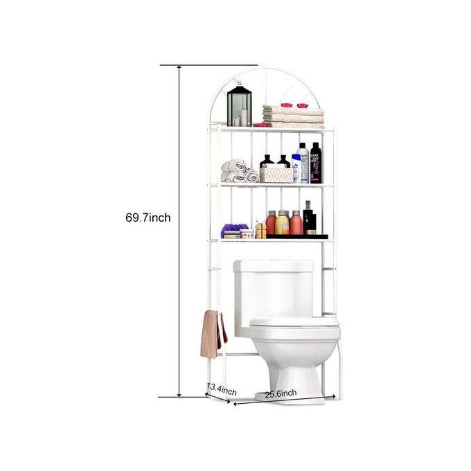 meuble etageres de wc meuble de rangement au dessus des toilettes wc ou lave linge avec 3 tablettes metalique pour salle de bain