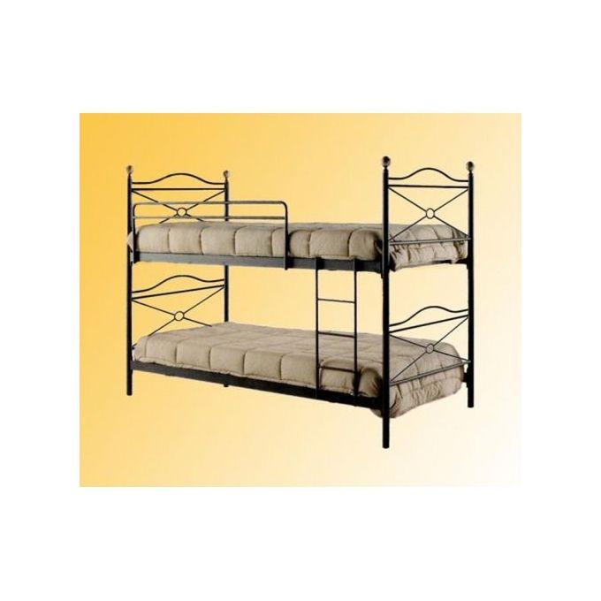 lit superpose 2 niveaux en fer forge 90x190 noir