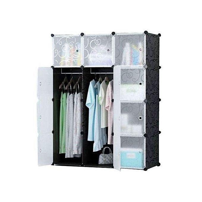 armoire penderie 12 cubes plastique