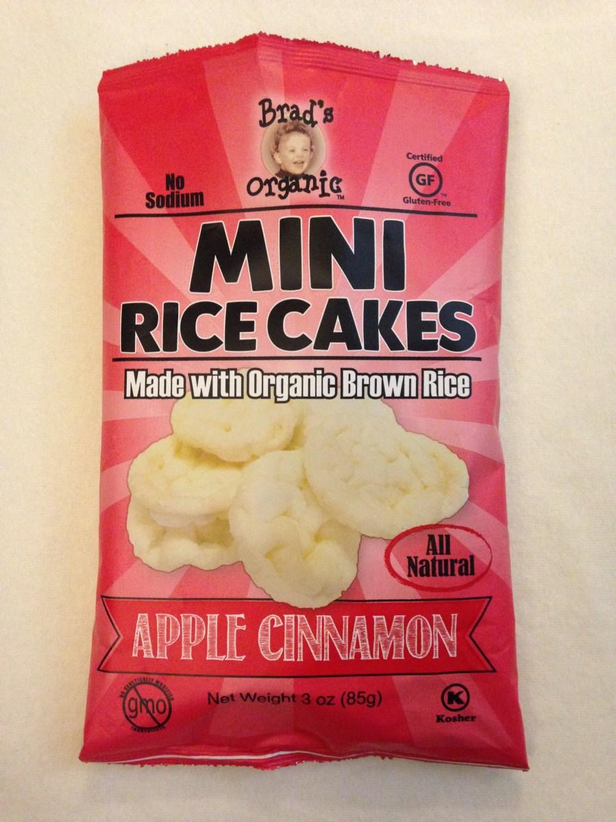 Review Mini Rice Cakes Apple Cinnamon Brads Organic