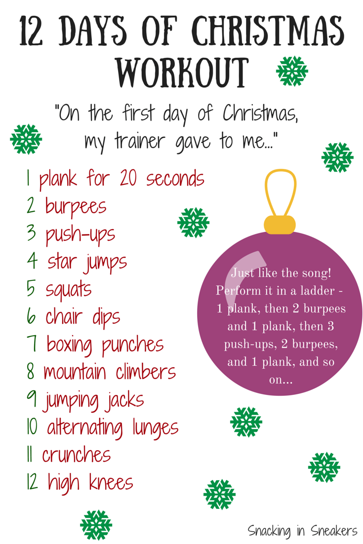12 Days Of Christmas Workout  Snacking In Sneakers