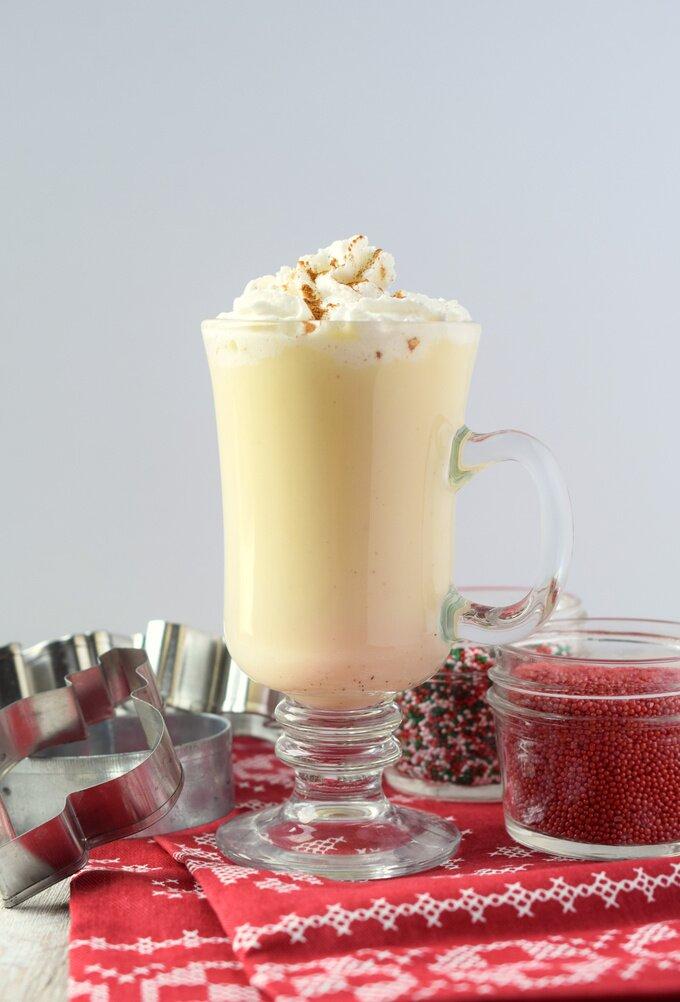 Eggnog White Hot Chocolate