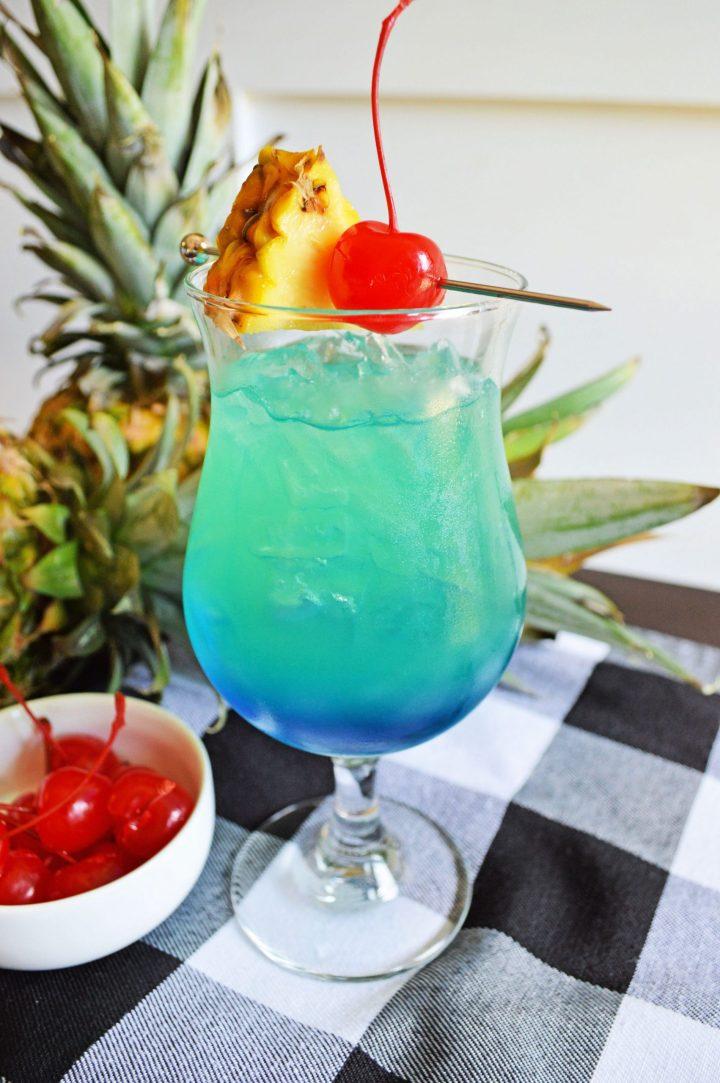Tropical Blue Hawaiian Cocktail