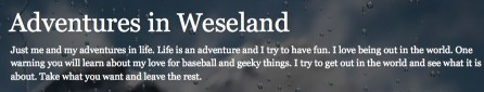 Adventure in Weseland
