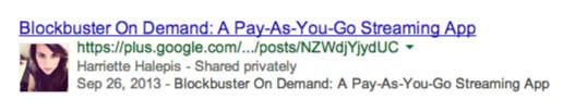 Harriette Google Authorship