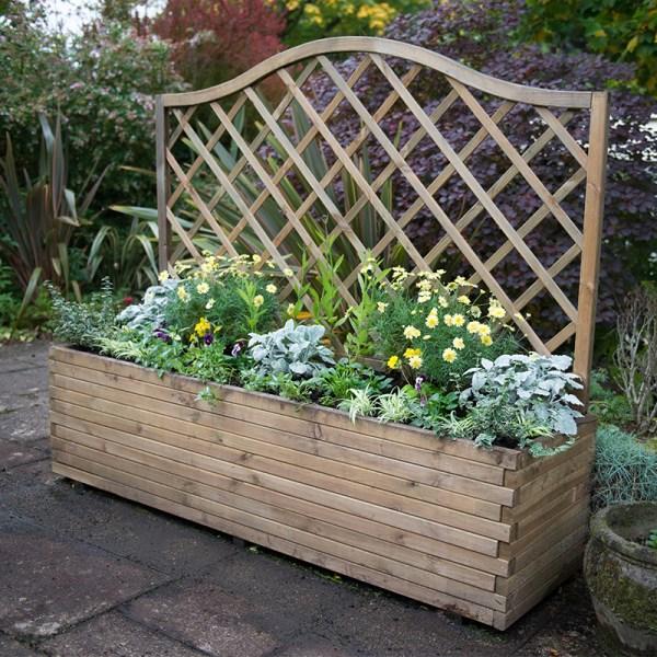 forest venice wooden garden planter