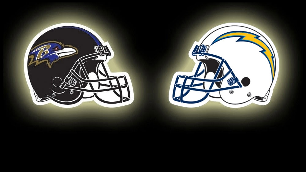 Image result for ravens vs chargers