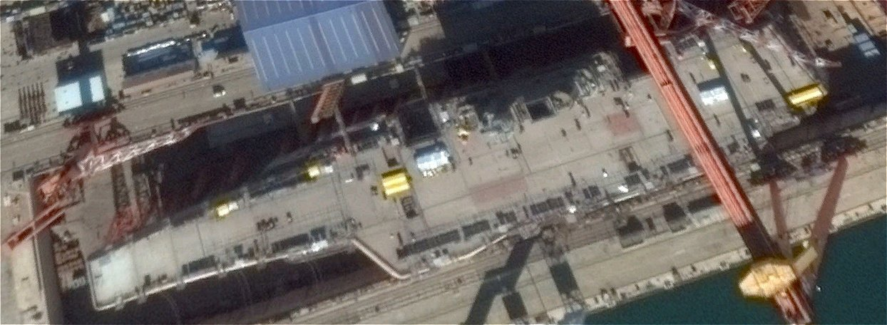 China aircraft carrier satellite