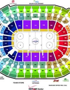 Washington capitals seating chart also capital one arena parking rh capitalonearenaparking