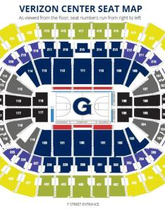Georgetown hoyas seating chart also capital one arena parking rh capitalonearenaparking