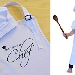 Kitchen Apron For Kids Cabinet Doors Sale Childrens Childs Cooking 7 10 Yrs Black B A Christmas Ornament