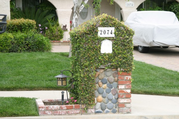 Brick Mailbox Garden Design