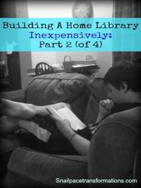 Building a Home Library Inexpensively: Part 2 - Snail Pace ...