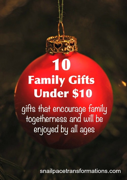 10 Family Gifts For Under 10