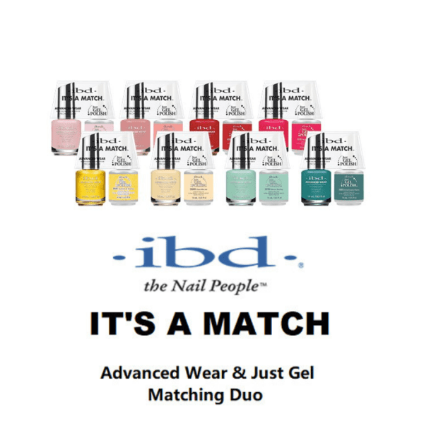 IBD Its a Match Duo Advanced Wear Lacquer and Just Gel Polish