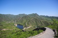 A less visited section of the Great Wall. We were able to get there thanks to Vincenzo and his driver.