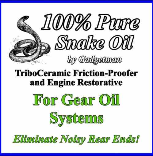 Snake Oil for Gear Boxes