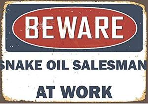 We are PROUD to be salespersons for the REAL Snake Oil by Gadgetman.