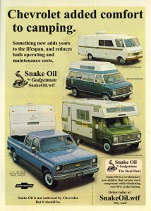 Living in an old camper is something many people have decided to make their way of life. Snake Oil by Gadgetman keeps their drive train alive much longer!