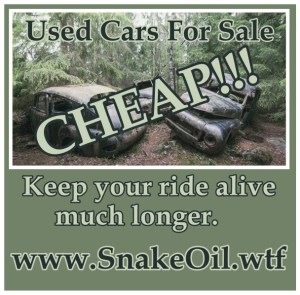 We invest many thousands of dollars into our rides, and want them to last as long as possible. Let Snake Oil by Gadgetman give your ride MORE life!