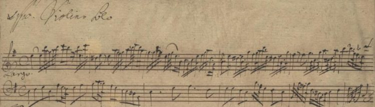 Pisendel Sonata in E minor JunP IV.1, ms. Mus.2421-R-1 (Early version)