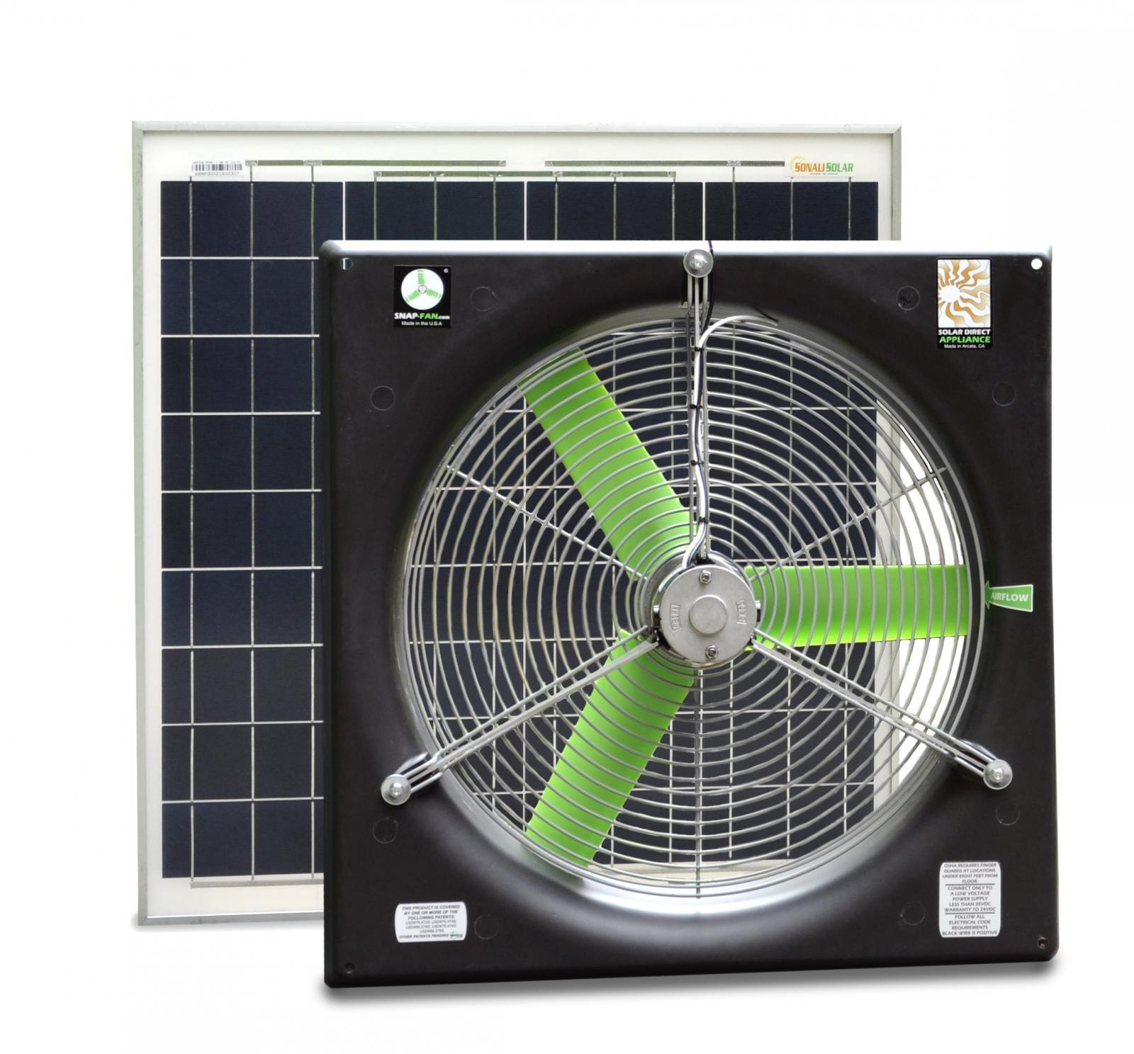 small resolution of 20 dc snap fan solar kit
