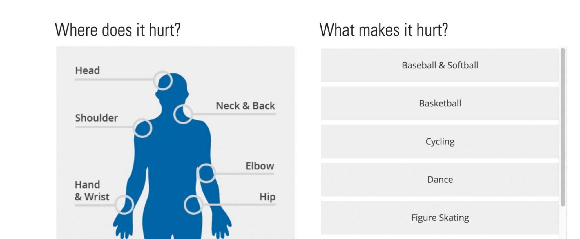 hight resolution of medical website body diagram