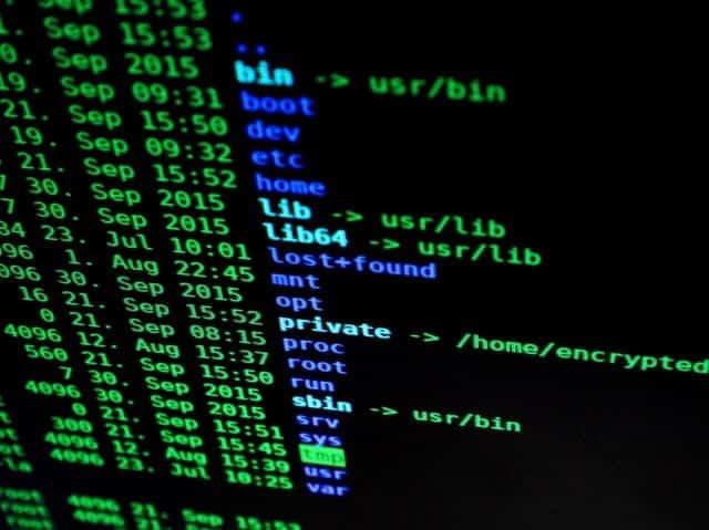 scherm met programmeercode