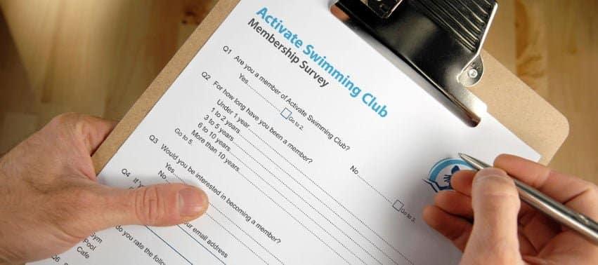 Papieren enquête voorbeeld