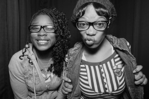 Eastern Michigan University students in the Photo Booth