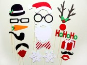 Christmas photo booth props on a stick