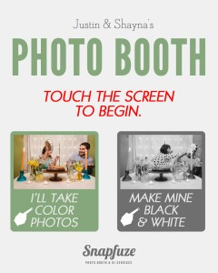 Personalized Start Menu for Photo Booth