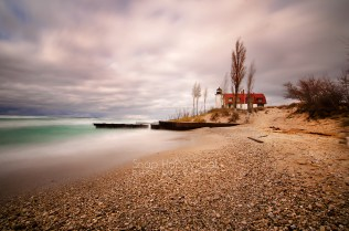 Photo: Point Betsie Lighthouse long exposure