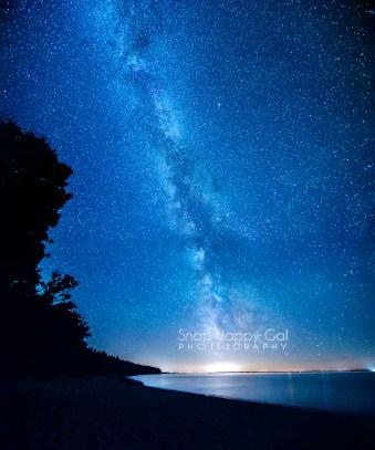 Photo: Milky Way and Traverse City, Michigan