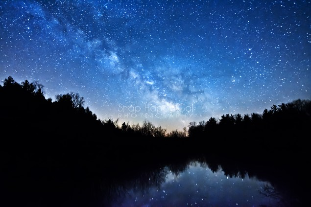 Photo: Milky Way, silhouette reflections