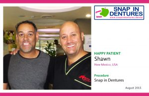 Shawn, another Happy Patient with Snap in Dentures!