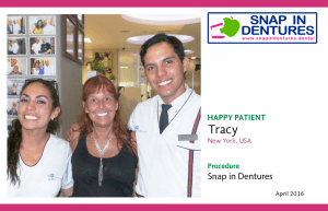 Snap in Dentures Happy Patient: Tracy's testimonial review!
