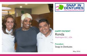 Snap in Dentures Happy Patient: Ronda!