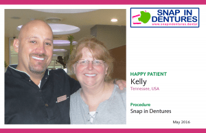 """Snap in Dentures Happy Patient Kelly: """"It's the little things making my life better"""""""