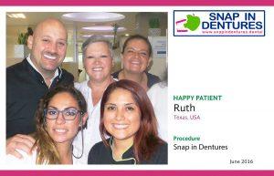 Snap in Dentures Happy Patient: Ruth