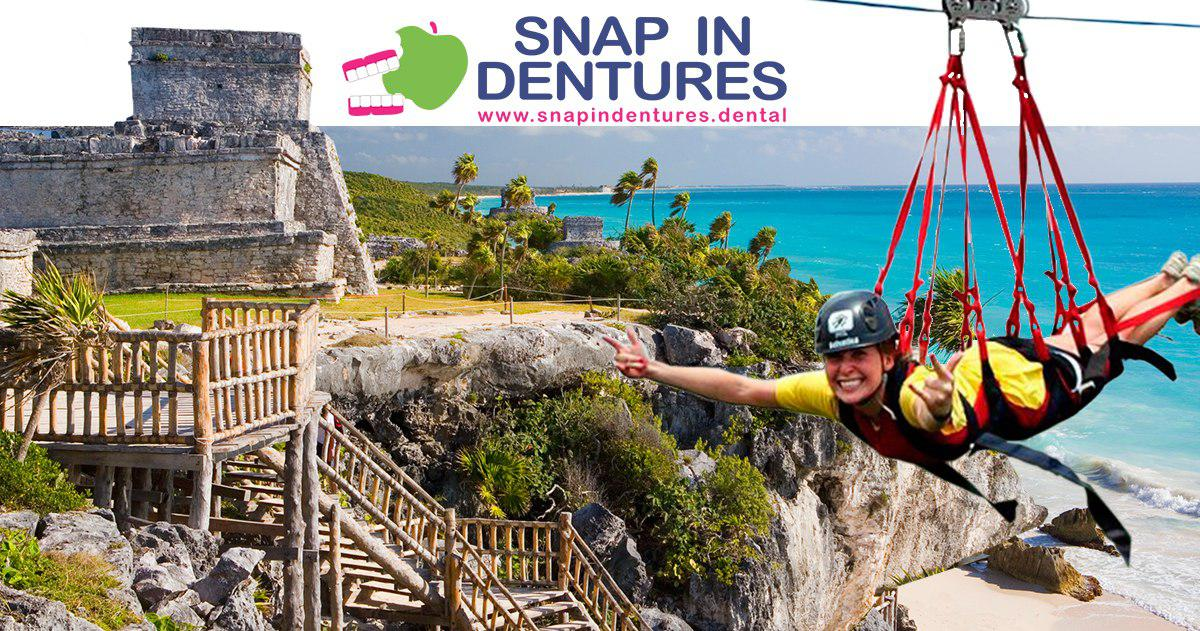 Snap in dentures Option to go while you stay in cancun
