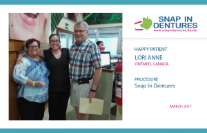 Happy Patient: Lori Anne recommends Snap in Dentures
