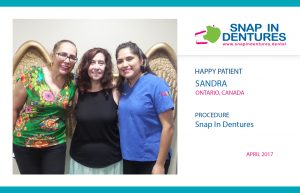 Sandra, another Happy Patient with Snap in Dentures!
