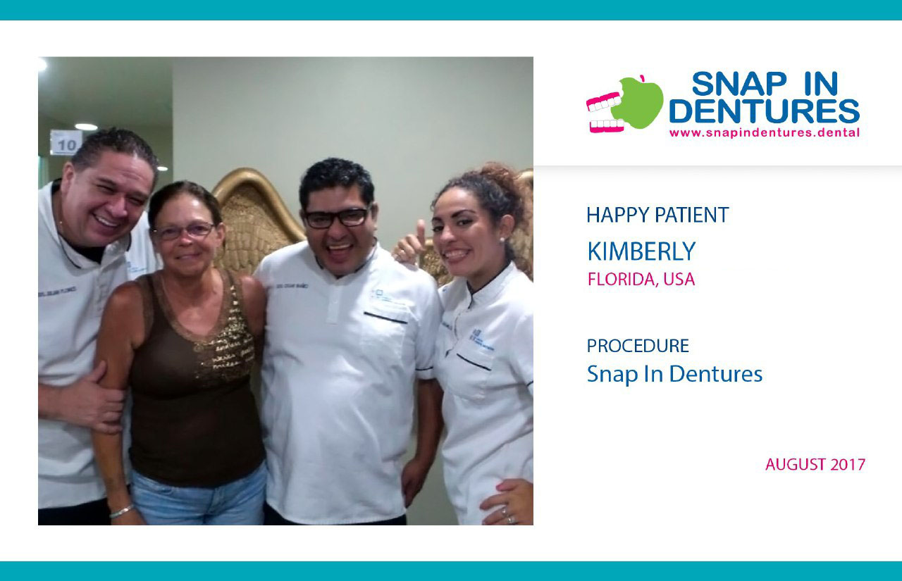 Snap in dentures reviews: Kimberly smile again!