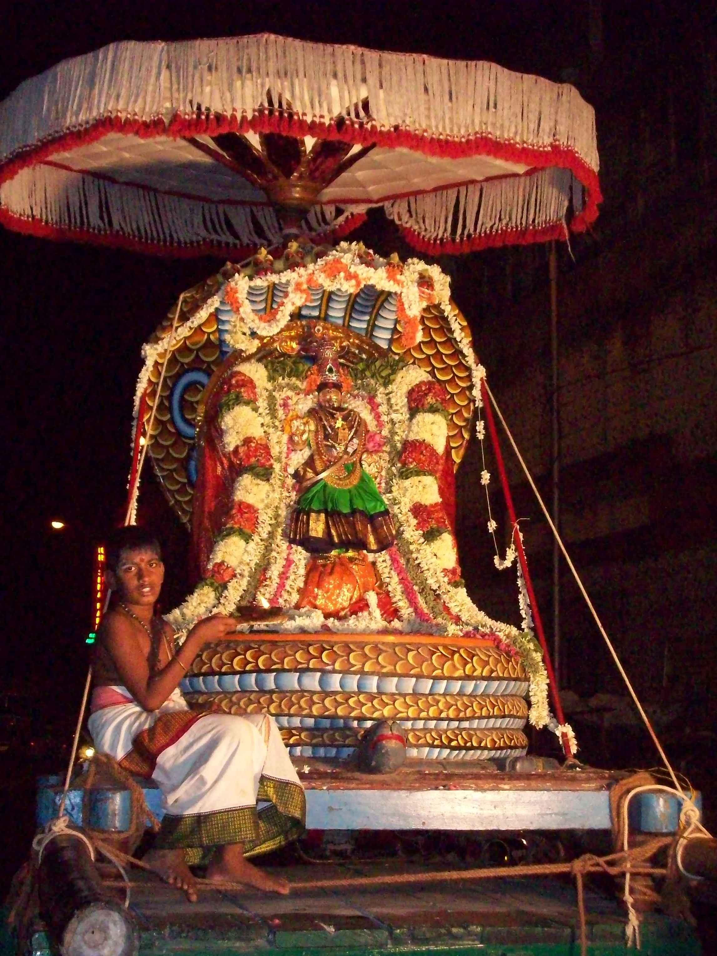 Ambaal-Kaamakshi-Naga-Vaganam-Velli-Eswarar-Sesha-Vaahanam
