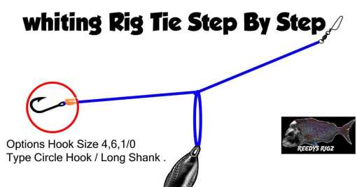 tie whiting rig , bottom fishing rig