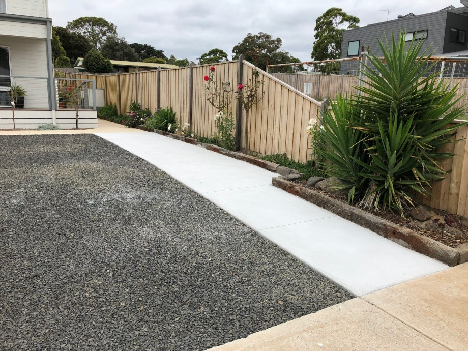 Concrete path for accessibility