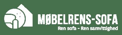 Møbelrens - Sofa logo i hvid